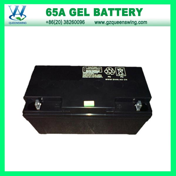 Gel Solar Battery of 12V 65A