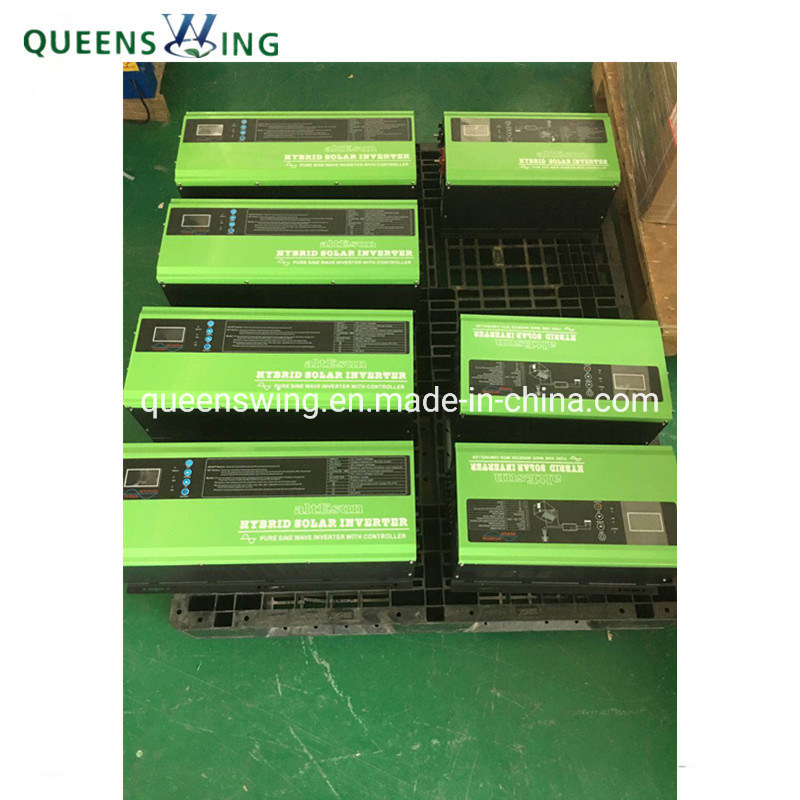 6KVA/4KW 24V/48VDC 240VAC Input to 120V/240VAC Dual Output Split Phase Hybrid PV Inverter for Solar Power Backup System