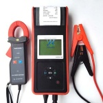 12V digital car battery capacity tester with printer